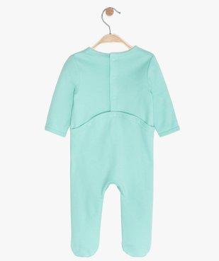 Pyjama bébé garçon avec motif baobab vue3 - GEMO C4G BEBE - GEMO