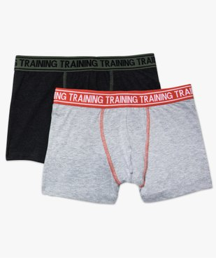 Lot de 2 boxers unis avec surpiqûres apparentes vue1 - GEMO (JUNIOR) - GEMO