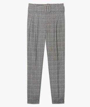 Pantalon femme Prince de Galles à taille haute vue4 - Nikesneakers(FEMME PAP) - Nikesneakers