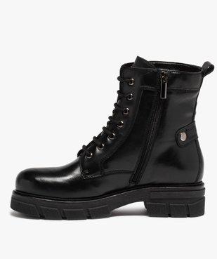 Boots femme unies à talon large et semelle crantée vue3 - Nikesneakers (CASUAL) - Nikesneakers