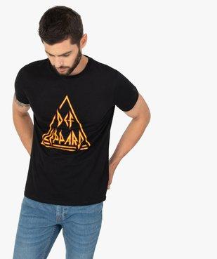 Tee-shirt homme à manches courtes imprimé - Def Leppard vue1 - DEF LEPPARD - GEMO