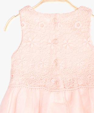Robe bébé fille avec buste en guipure vue2 - GEMO (ENFANT) - GEMO