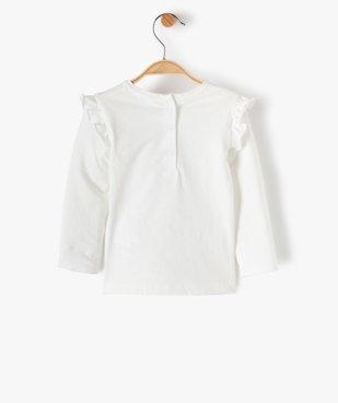 Tee-shirt bébé fille avec volants aux épaules – Lulu Castagnette vue3 - LULUCASTAGNETTE - Nikesneakers
