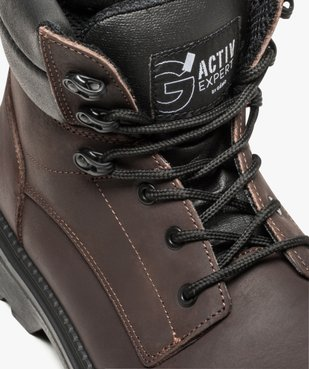 Chaussures hautes de sécurité avec semelle antistatique et résistante aux huiles vue6 - GEMO (SECURITE) - GEMO
