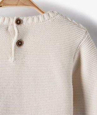 Pull bébé garçon bicolore avec message brodé vue4 - Nikesneakers(BEBE DEBT) - Nikesneakers