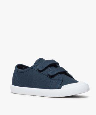 Chaussures basses garçon en toile unie fermeture scratch vue2 - GEMO (ENFANT) - GEMO