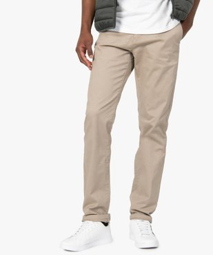 Pantalon chino homme coupe regular vue1 - GEMO (HOMME) - GEMO