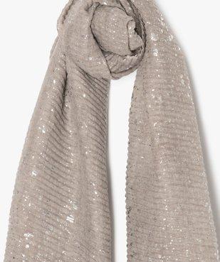 Foulard femme gaufré avec touches pailletées vue2 - GEMO (ACCESS) - GEMO
