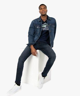 Jean homme skinny délavé avec plis sur les hanches vue5 - Nikesneakers (HOMME) - Nikesneakers