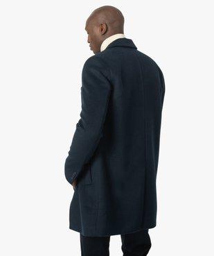 Manteau court homme effet drap de laine vue3 - GEMO (HOMME) - GEMO