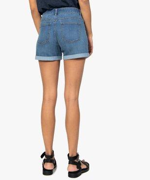 Short femme en jean avec revers cousus vue3 - GEMO(FEMME PAP) - GEMO