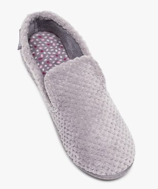 Chaussons femme forme charentaise - Isotoner vue5 - ISOTONER - GEMO