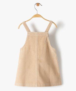 Robe bébé fille à bretelles en velours côtelé vue3 - GEMO(BEBE DEBT) - GEMO