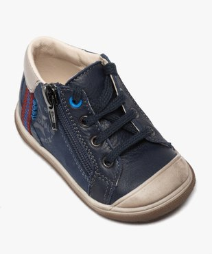 Chaussures premiers pas bébé garçon à lacets et zip - Bopy vue5 - BOPY - GEMO