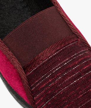 Pantoufles femme à talon compensé dessus élastiqué vue6 - GEMO(HOMWR FEM) - GEMO