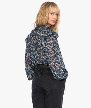 Chemise femme en voile à motifs fleuris avec finitions volantées vue3 - GEMO(FEMME PAP) - GEMO
