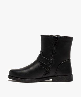 Boots fille unis avec boucles fantaisies fermeture zippée vue3 - Nikesneakers (ENFANT) - Nikesneakers