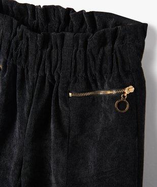Pantalon fille ample en velours côtelé vue2 - Nikesneakers (ENFANT) - Nikesneakers