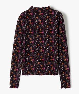 Tee-shirt fille à manches longues avec col montant  vue4 - GEMO (JUNIOR) - GEMO
