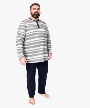 Pyjama homme avec haut rayé vue1 - Nikesneakers(HOMWR HOM) - Nikesneakers