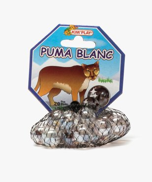 Sac de billes en verre – Puma Blanc Kim'Play vue1 - KIM PLAY - GEMO