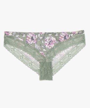 Culotte femme à motifs fleuris et dentelle vue4 - GEMO(HOMWR FEM) - GEMO