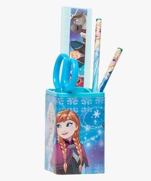 Kit La Reine des Neiges : 2 Stylos, pot à crayons, règle, cisseaux  vue1 - REINE DES NEIGE - GEMO