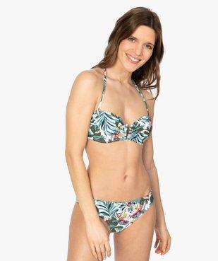 Haut de maillot de bain femme forme bandeau à armatures vue3 - GEMO (PLAGE) - GEMO
