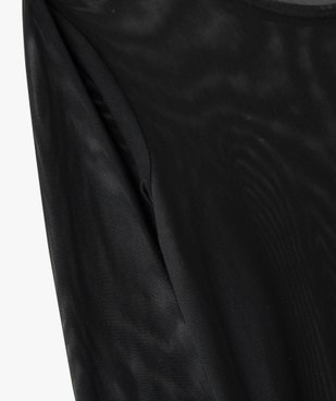 Tee-shirt fille en maille effet tulle à manches longues vue3 - GEMO (JUNIOR) - GEMO
