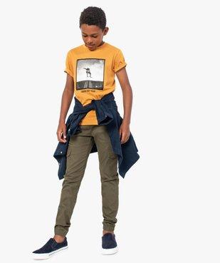 Tee-shirt garçon à manches courtes avec large motif vue5 - GEMO (JUNIOR) - GEMO