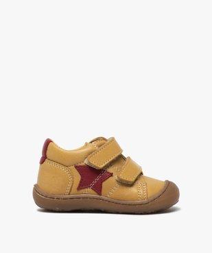 Chaussures premiers pas bébé garçon à scratch - Bopy vue1 - BOPY - GEMO