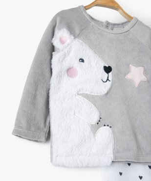 Pyjama bébé filles 2 pièces avec motif ourson vue2 - GEMO(BB COUCHE) - GEMO