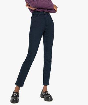 Jean femme slim taille haute extensible vue1 - GEMO C4G FEMME - GEMO