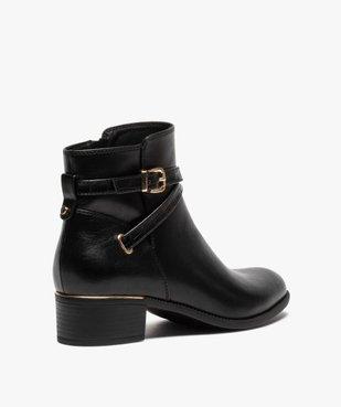 Boots femme unis à talon carré et finitions métallisées vue4 - GEMO (CASUAL) - GEMO