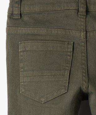 Pantalon garçon uni coupe Slim extensible  vue3 - GEMO (ENFANT) - GEMO