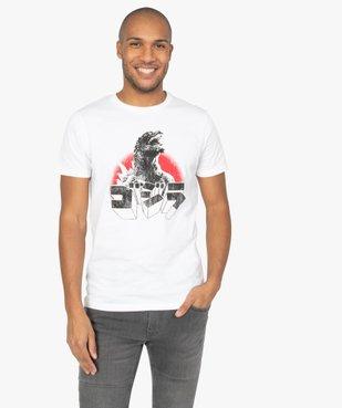 Tee-shirt homme à manches courtes imprimé Godzilla vue1 - GODZILLA - GEMO