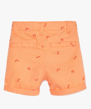 Bermuda bébé garçon en coton à petits motifs all over vue4 - GEMO(BEBE DEBT) - GEMO