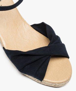 Sandales femme à talon compensé en corde vue6 - GEMO(URBAIN) - GEMO