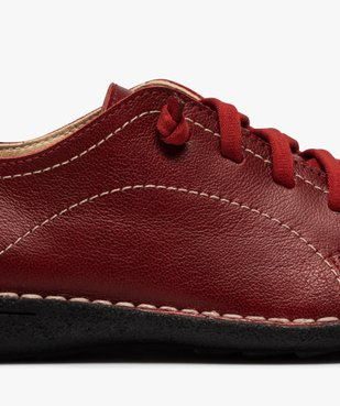 Derbies femme confort dessus cuir à lacets élastiques vue6 - Nikesneakers (CASUAL) - Nikesneakers