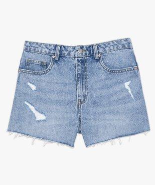 Short femme en jean aspect usé – Lulu Castagnette vue4 - LULUCASTAGNETTE - GEMO