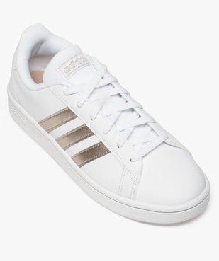 Baskets femme détails métallisés – Adidas Grand Court Base vue5 - ADIDAS - Nikesneakers