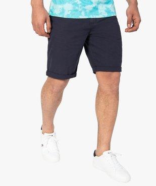 Bermuda homme en coton coloris unique vue1 - Nikesneakers (HOMME) - Nikesneakers