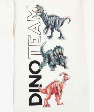 Tee-shirt garçon à manches courtes avec motifs dinosaures vue2 - GEMO (ENFANT) - GEMO