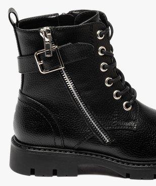Boots fille à lacets style rock fermeture zippée vue6 - GEMO (ENFANT) - GEMO