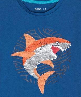Tee-shirt garçon avec motif en sequins réversibles vue2 - GEMO (ENFANT) - GEMO
