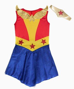 Déguisement fille Wonder Woman (2 pièces) vue2 - DC COMICS - GEMO
