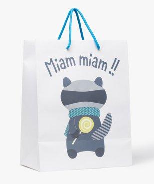 Pochette cadeau bébé avec motif raton-laveur vue2 - GEMO C4G BEBE - GEMO