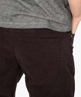 Pantalon homme straight uni en coton stretch vue2 - Nikesneakers (HOMME) - Nikesneakers