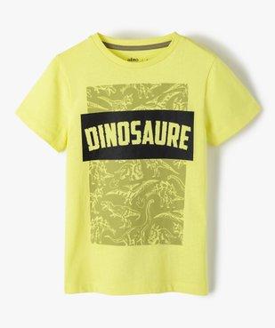 Tee-shirt garçon à manches courtes imprimé dinosaure vue1 - GEMO (ENFANT) - GEMO