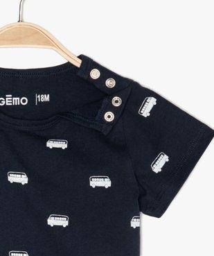 Pyjashort bébé garçon 2 pièces en coton bio vue3 - GEMO(BB COUCHE) - GEMO